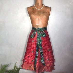 NWT Silk 80% Wrap Magic 100 Ways to Wear Skirt Z19
